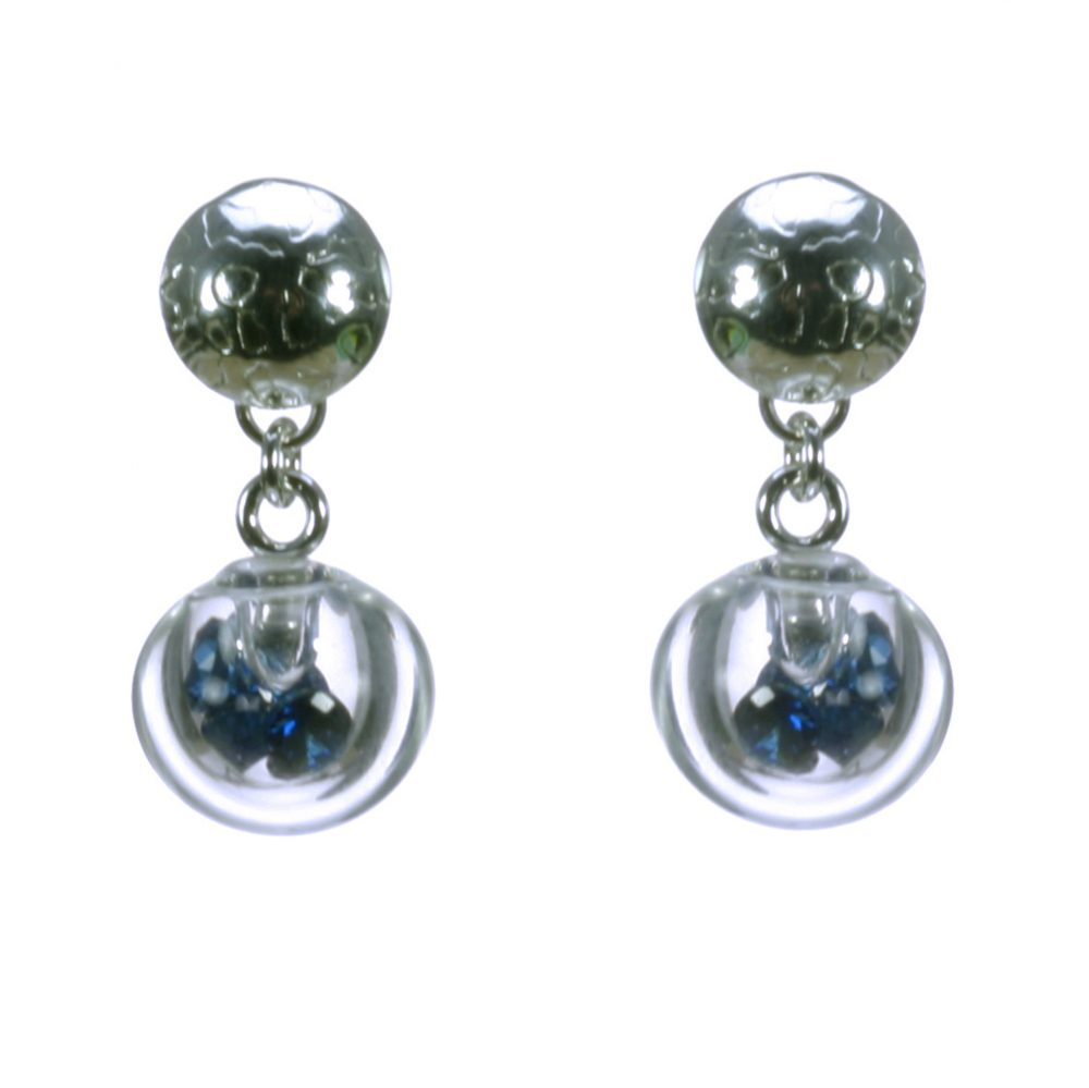 Sapphire CZ Stud Top Bubble Earrings Charlotte Verity